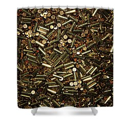Cartridges Shower Curtain by Kristin Elmquist