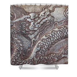 Carved Dragon Shower Curtain by Carol Groenen