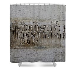 Carved In Stone Shower Curtain by Lorraine Devon Wilke
