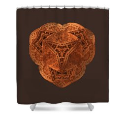 Shower Curtain featuring the digital art Carved by Lyle Hatch