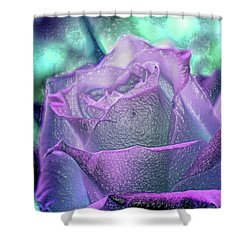 Shower Curtain featuring the photograph Carved Rose by Lance Sheridan-Peel