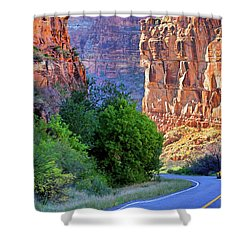 Carving The Canyons - Unaweep Tabeguache - Colorado Shower Curtain by Jason Politte