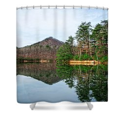 Shower Curtain featuring the photograph Carvins Cove  by Alan Raasch