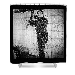 Carwash Cool Black And White Abstract Shower Curtain