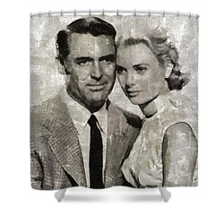 Cary Grant And Grace Kelly, Hollywood Legends Shower Curtain
