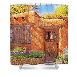 Casa Adobe Shower Curtain by Walter Colvin
