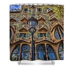 Casa Batllo Gaudi Shower Curtain by Henry Kowalski