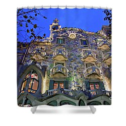 Casa Batllo In Barcelona Shower Curtain