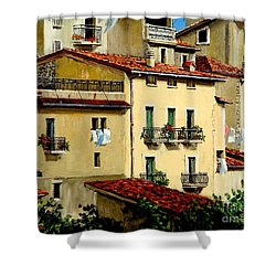 Shower Curtain featuring the painting Casa Del Sol by Michael Swanson