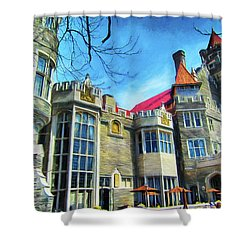 Casa Loma Series 2 Painted Y1 Shower Curtain