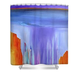 Shower Curtain featuring the painting Casade by Jo Appleby