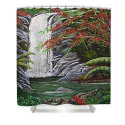 Cascada Tropical Shower Curtain