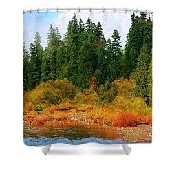 Cascade Autumn Shower Curtain