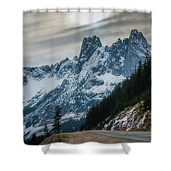 Cascade Beauty Shower Curtain