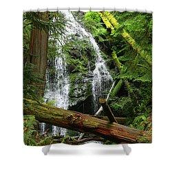 Cascade Falls - Orcas Island Shower Curtain