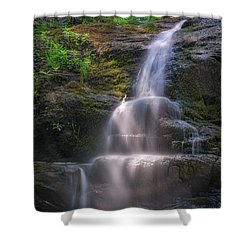 Shower Curtain featuring the photograph Cascade Falls, Saco, Maine by Rick Berk