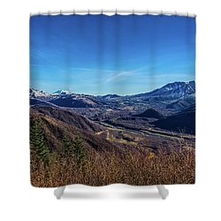 Cascade Mountains And The Toutle River Valley Shower Curtain