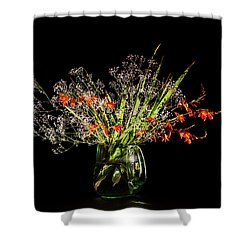 Cascade Of White And Orange. Shower Curtain by Torbjorn Swenelius