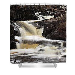 Shower Curtain featuring the photograph Cascade On The Two Island River by Larry Ricker