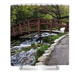 Cascade Springs Bridge Shower Curtain