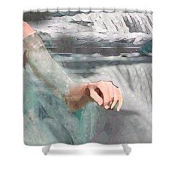 Shower Curtain featuring the digital art Cascade by Steve Karol