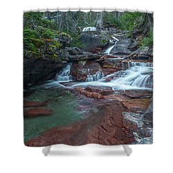 Shower Curtain featuring the photograph Cascades by Gary Lengyel