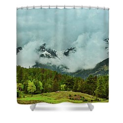 Cascading Storm Clouds Shower Curtain