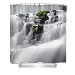 Shower Curtain featuring the photograph Cascading Mirror Lake Falls by Renee Hardison