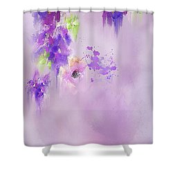Cascading Orchids Shower Curtain by Colleen Taylor