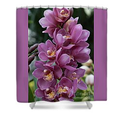 Cascading Orchids Shower Curtain