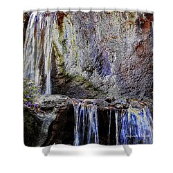 Cascading Water Solarized Shower Curtain by DigiArt Diaries by Vicky B Fuller