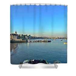 Cascais Marina Shower Curtain