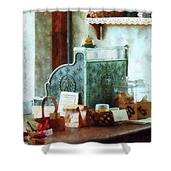 Shower Curtain featuring the photograph Cash Register In General Store by Susan Savad
