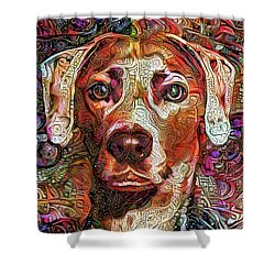 Cash The Lacy Dog Shower Curtain