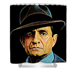 Cash With Hat Shower Curtain