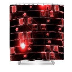 Shower Curtain featuring the digital art Casino Chips Glow by John Rizzuto