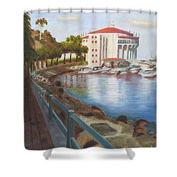 Casino In Avalon Shower Curtain by Nicolas Nomicos