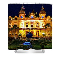 Casino Monte Carlo Shower Curtain