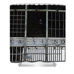 Casino Pier  Shower Curtain by Elsa Marie Santoro