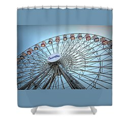 Casino Pier Ferris Wheel Shower Curtain