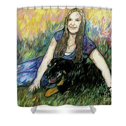Cassandra And Casey Shower Curtain