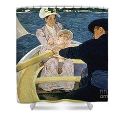 Cassatt: Boating, 1893-4 Shower Curtain by Granger