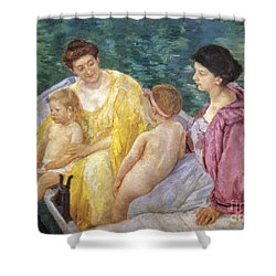 Cassatt: The Swim, 1910 Shower Curtain by Granger