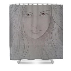 Cassy Blakemore  Shower Curtain by Sheila Renee Parker