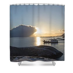 Cast A Giant Shadow... Reine Lofoten Shower Curtain