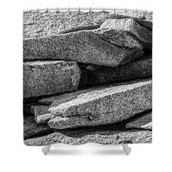 Coastal Rock I Shower Curtain