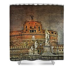 Shower Curtain featuring the photograph Castel Sant Angelo Fine Art by Hanny Heim