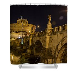 Castel Sant'angelo Shower Curtain by Ed Cilley