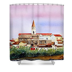 Shower Curtain featuring the painting Castelnuovo Della Daunia by William Renzulli