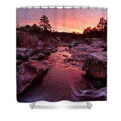 Caster River Shutins Shower Curtain by Robert Charity